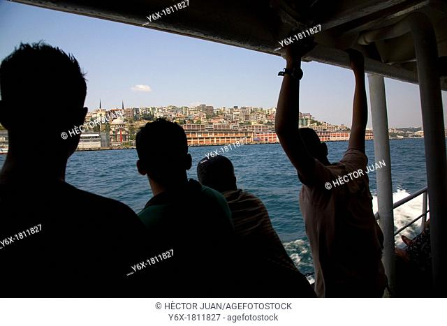 tourists Bosphorus sailing