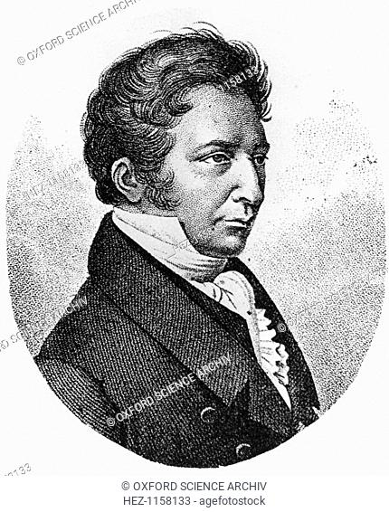 Joseph Louis Gay-Lussac, French chemist, physicist and balloonist, c1824. Gay-Lussac (1778-1850) investigated the behaviour of gases and developed techniques of...