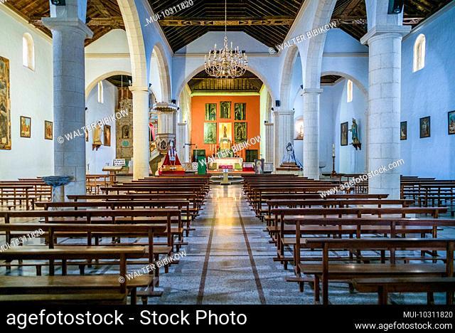 Spain, Canary Islands, Fuerteventura Island, La Oliva, Iglesia de Nuestra Senora de la Candelaria church, interior