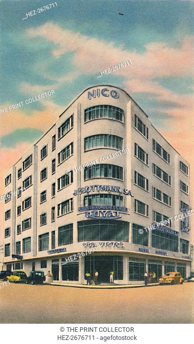 'Nico Building, Owners: P. & M. Matera, Barranquilla', c1940s. Artist: Unknown
