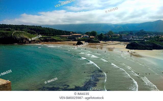 Palombina beach, Celorio village, Asturias, Spain