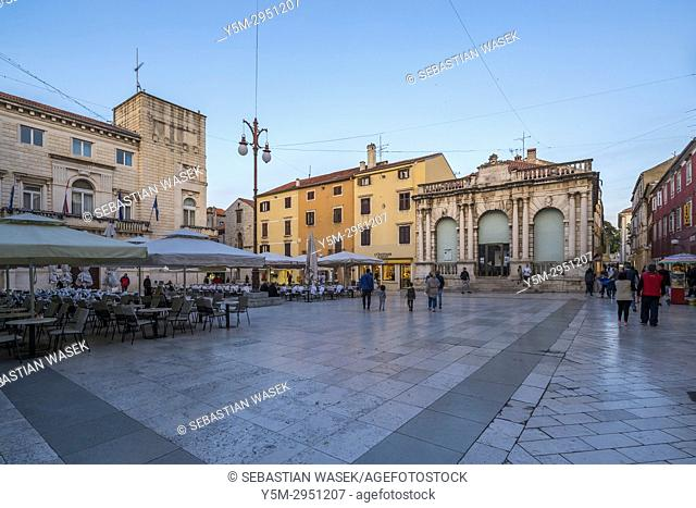 People's Square, Zadar, Dalmatia, Croatia, Europe
