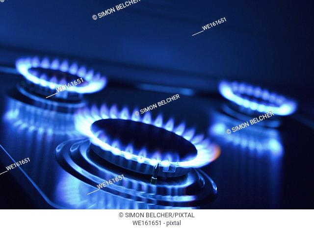 Gas Hob, Close Up