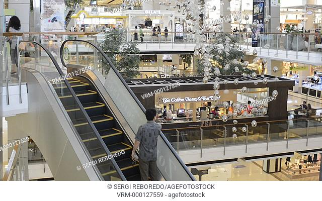 Centralworld mall. Bangkok. The mall is Bangkok's largest with hundreds of shops. CentralWorld mega-shopping complex offers one of the most exciting shopping