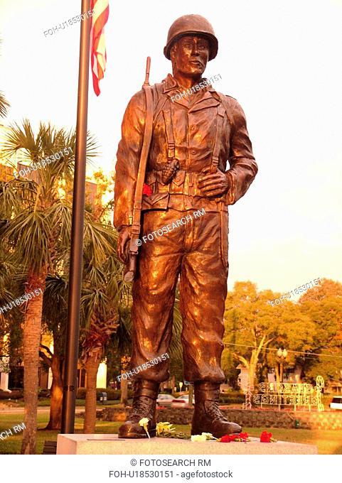 Orlando, FL, Florida, Lake Eola Park, Vietnam Memorial