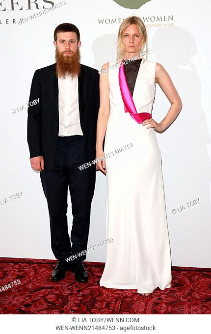 Women For Women International & De Beers Summer Evening held at the Royal Opera House - Arrivals Featuring: Kim Trager,Lowell Delaney Where: London