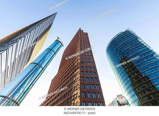 Germany, Berlin, Potsdamer Platz, skyscrapers