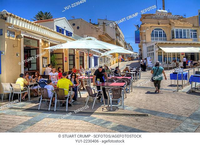HDR of the Restaurants at Cabo de Palos, Murcia, Costa Calida, Spain, Europe