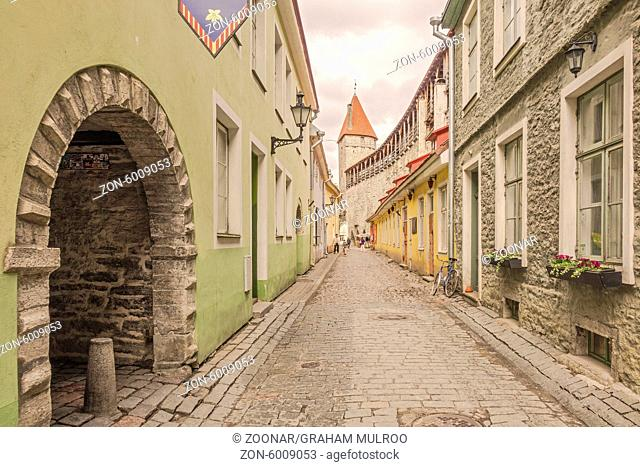 Street In The Old Town Tallinn Estonia