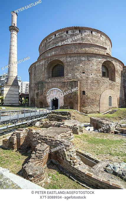 The, Roman, Rotunda of Galerius, built in 306 ad. by Tetrach Galerius, and subsequently converted to a Byzantine church and later a mosque
