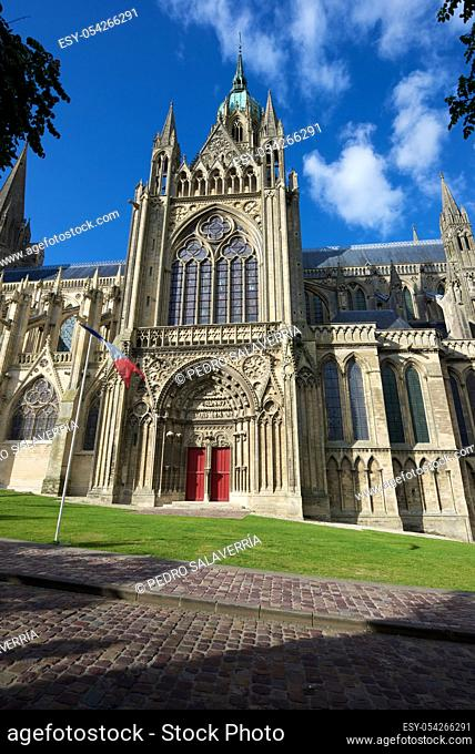 Cathedral of Our Lady of Bayeux, Calvados Department in Normandy, France