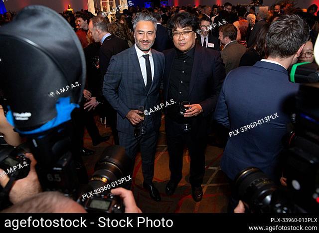 Oscar® nominees Take Waititi and Bong Joon Ho at the Oscar Nominee Luncheon held at the Ray Dolby Ballroom, Monday, January 27, 2020
