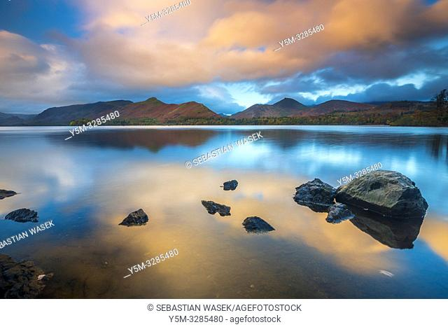 Derwent Water, Keswick, Lake District National Park, Cumbria, England, UK, Europe