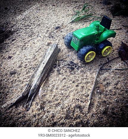 A toy tractor in Cayo, Belize