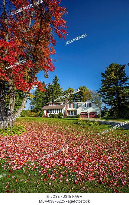 USA, Massachusetts, Berckshire District, Near Lenox City, House