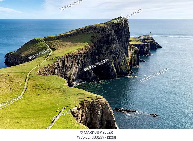 United Kingdom, Scotland, View of lighthouse in Neist Point