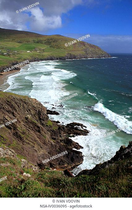 Slea Head landscape, Dingle peninsula, Kerry county, Ireland