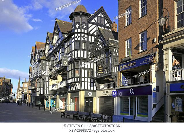 Eastgate Rows, Chester, Cheshire, England, UK