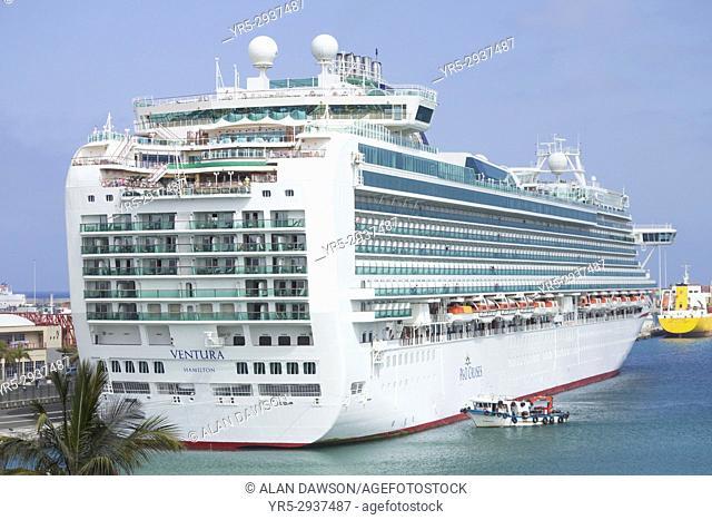 P&O cruise ship Ventura in Las Palmas port. Gran Canaria, Canary Islands, Spain