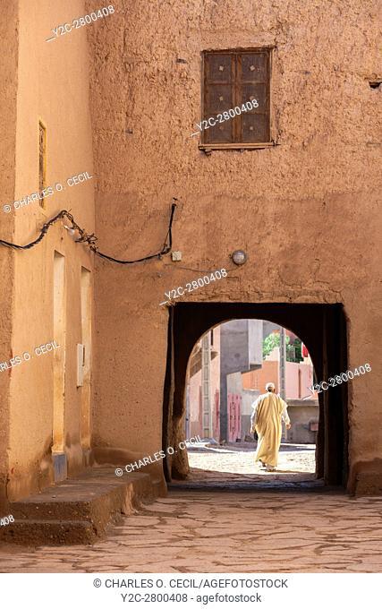 Ksar Elkhorbat, Morocco. Looking outwards from inside the Casbah