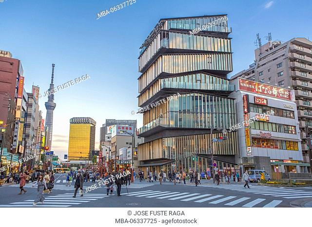 Japan, Tokyo City, Asakusa District, Asakusa Culture Information Center Bldg., Sky Tree Tower