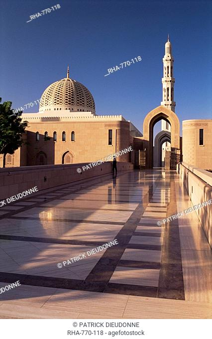The Grand Mosque Sultan Qaboos, built in 2001, Batinah region, Muscat, Oman, Middle East