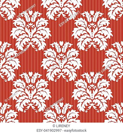 Vector seamless damask pattern. Rich ornament, old damascus style pattern for wallpapers, textile, scrapbooking etc