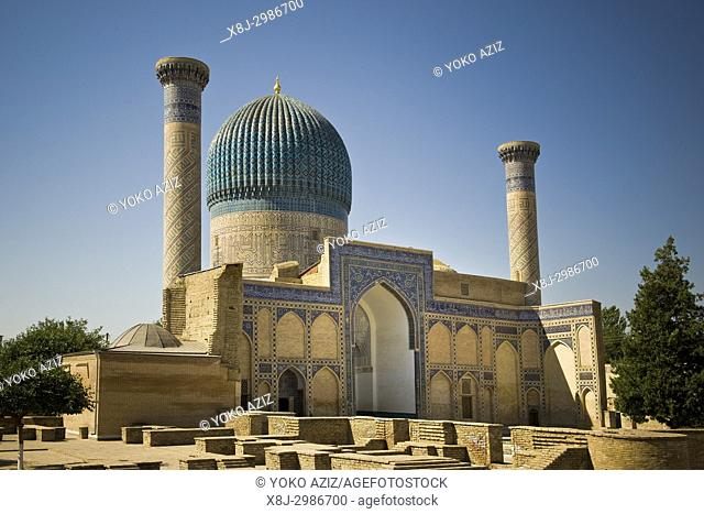 Uzbekistan, Samarkand, Amir Temur mausoleum