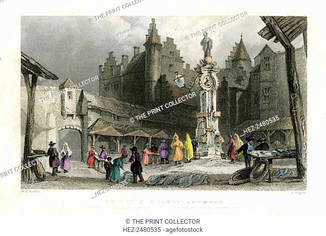 'The Fish Market, Antwerp', Belgium, 19th century