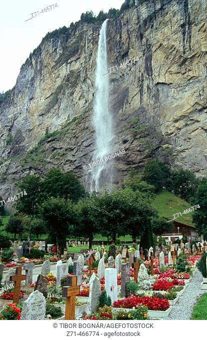 Staubbach Falls. Lauterbrunnen. Bernese Oberland. Switzerland
