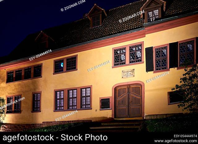 Bach-Haus in der Altstadt von Eisenach, das bisher irrtümlich als Geburtshaus des Komponisten Johann Sebastian Bach angesehen wurde