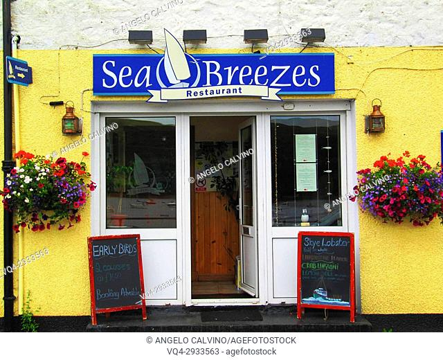 Restaurant in Portree, Skye island, Inner Hebrides, Scotland, UK