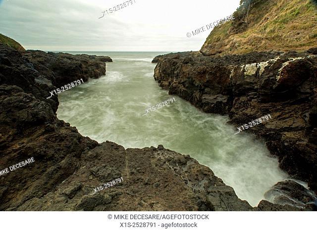Rugged coastline of the Oregon coast in the Pacific Northwest