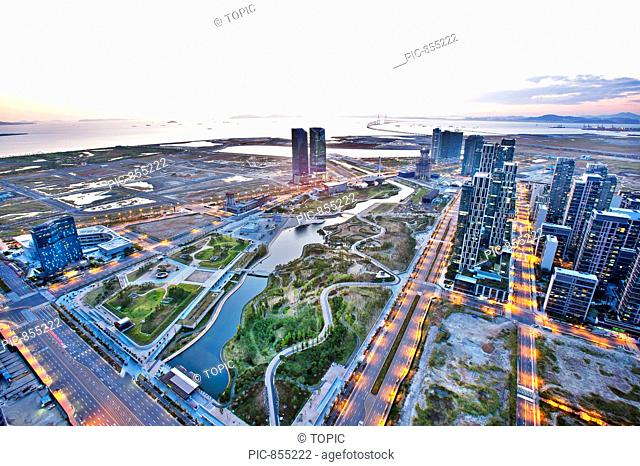 The Sharp First World, Jungang Park, Songdo, Yeonsu-gu, Incheon, Korea