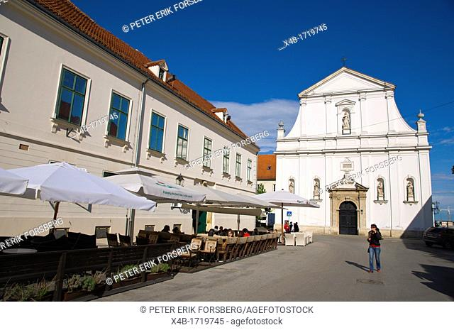 Katarinin trg square Gradec the old town Zagreb Croatia Europe