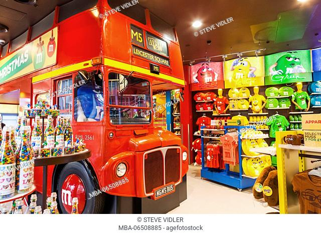 England, London, Leicester Square, M&M Store
