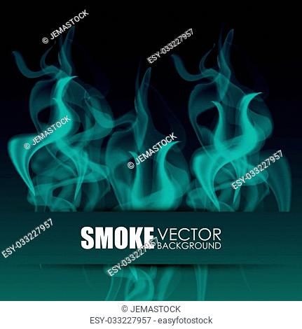 Smoke concept with icon design, vector illustration 10 eps graphic