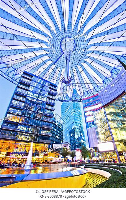 Sony Center, Potsdam Square, Potsdamer Platz, Tiergarten district, Mitte, Berlin, Germany, Europe