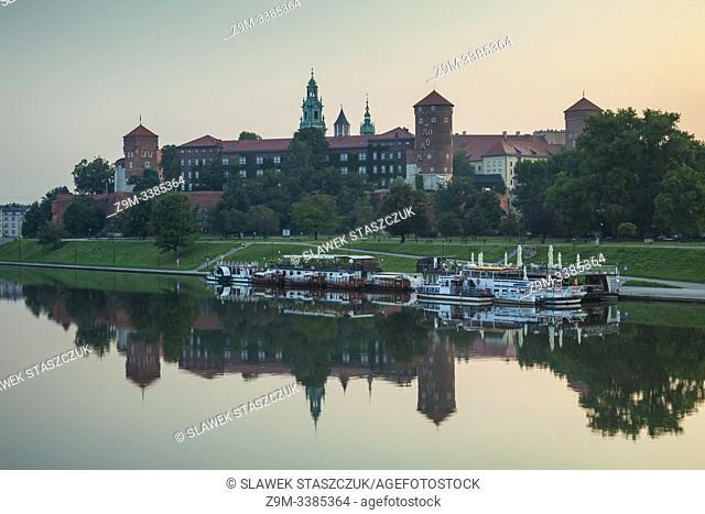 Dawn at Wawel Royal Castle, Krakow, Poland