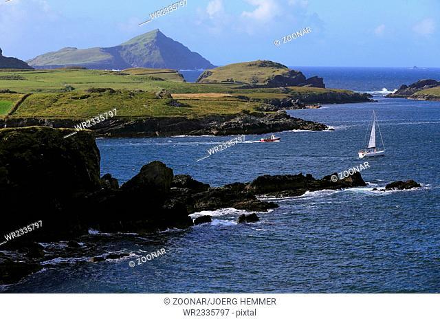 Coastal scenery near Portmagee, Kerry, Ireland