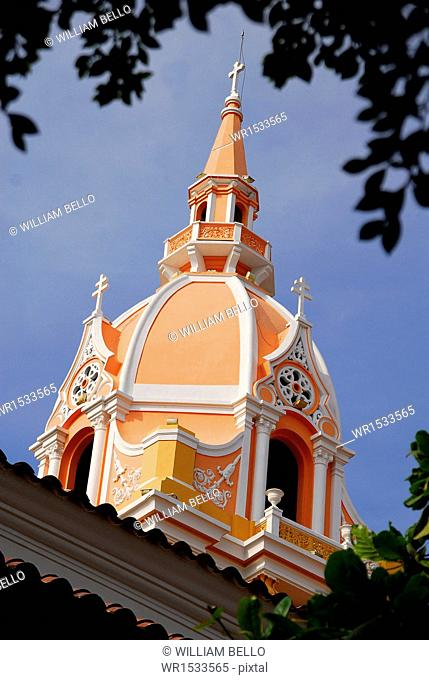 Cupola of the Cathedral of Cartagena, Bolivar, Colombia