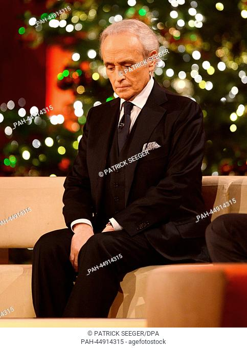 Spanish star tenor Jose Carreras at the 19th Jose Carreras Gala in Europapark in Rust, Germany, 19 December 2013. Celebrities are collecting donations for the...