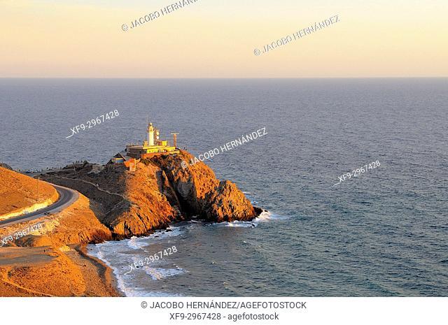 Lighthouse of Cabo de Gata. Cabo de Gata-Níjar Natural Park. Almería province. Andalusia. Spain