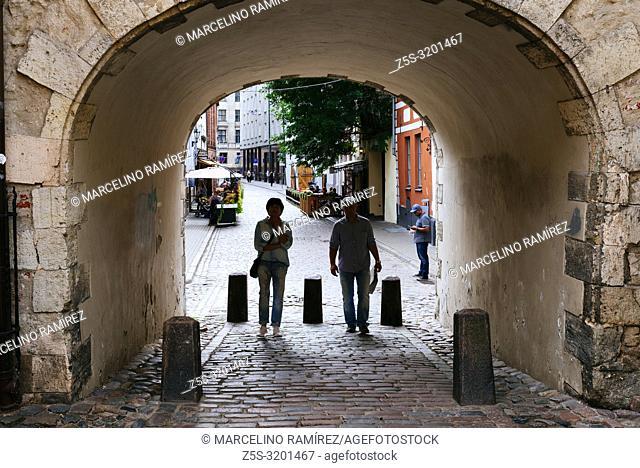 The Swedish Gate. Riga, Latvia, Baltic states, Europe