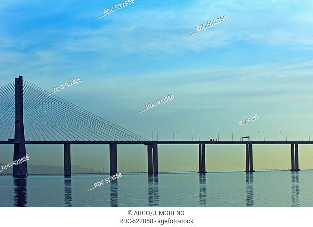Lisbon, Vasco da Gama bridge, Tagus river, Tejo river, Portugal, Europe