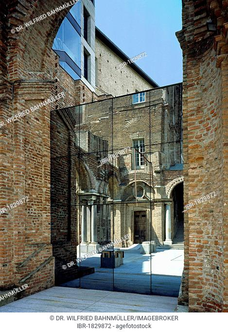 Museum of modern art, former castle, Rivoli, Turin province, Piedmont Italy, Europe
