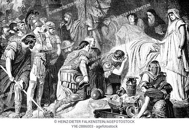 The death of Alexander the Great in 323 BC