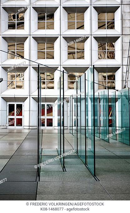 Building in La Defense business district, Paris, France