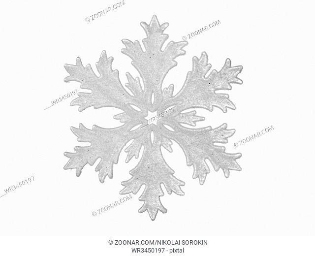 Toy snowflake - isolated on white background
