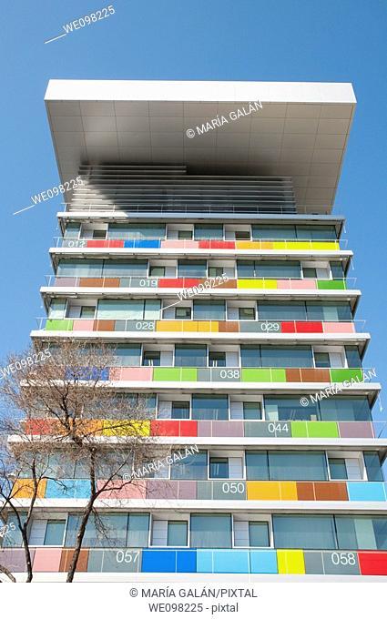 INE building, Paseo de la Castellana. Madrid, Spain